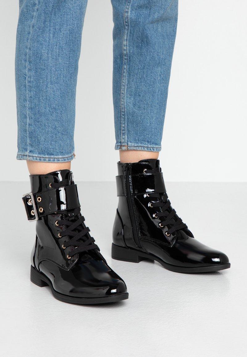 Anna Field - Bottines à lacets - black