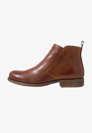 LEATHER WINTER BOOTIES - Vinterstøvler - cognac