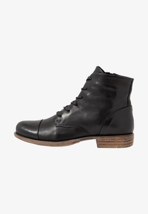 LEATHER WINTER BOOTIES - Botas para la nieve - black