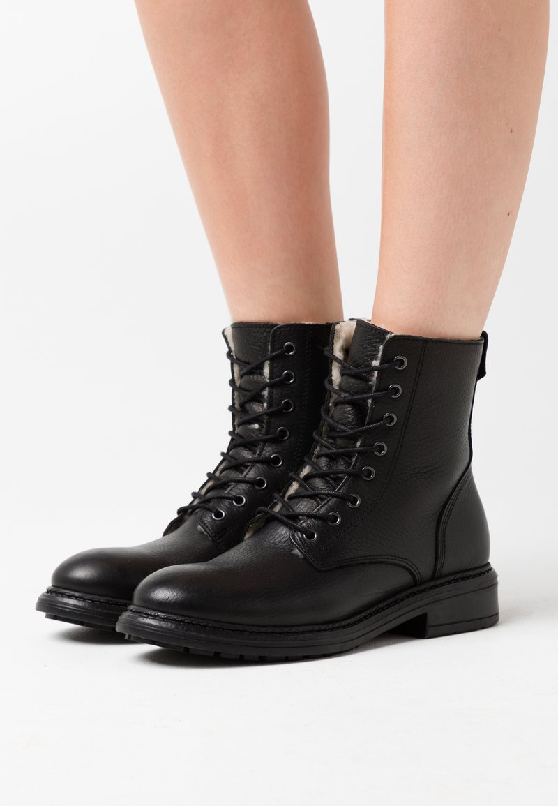 Anna Field - LEATHER  - Winter boots - black