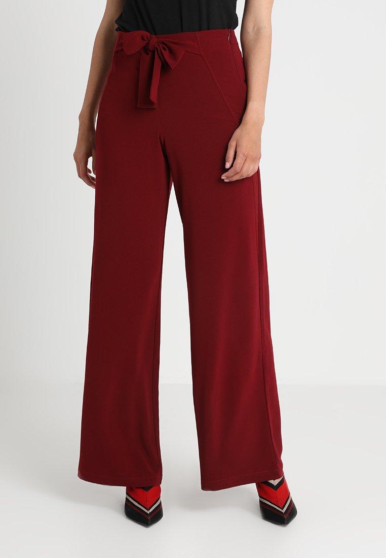 Anna Field - Trousers - dark red