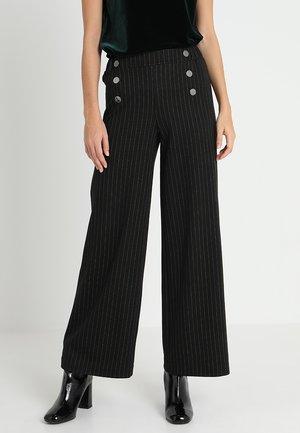 Spodnie materiałowe - black/white