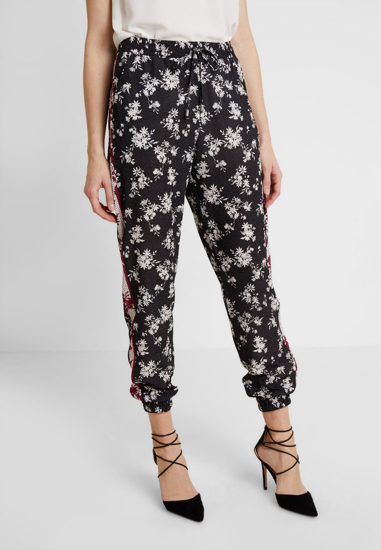 Anna Field - Trousers -  black/red/white