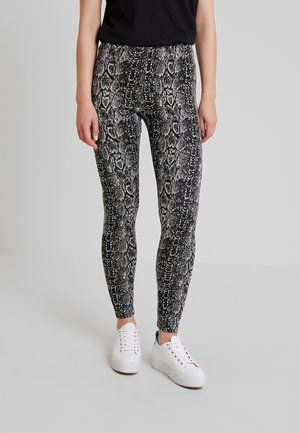 Leggings - Trousers - white/black