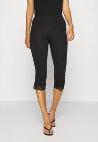 Anna Field - 2 PACK Capri Leggings with Lace - Legging - dark blue/black - 0