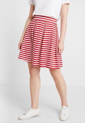 Áčková sukně - red/off-white
