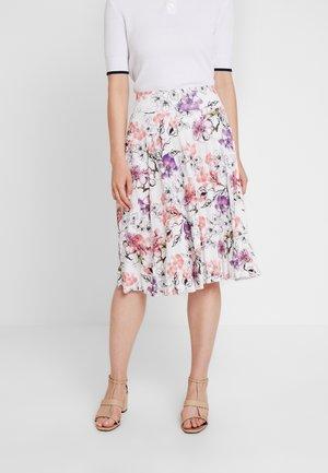 Áčková sukně - off white/pink
