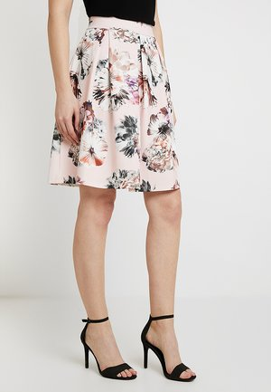 A-line skirt - white/pink
