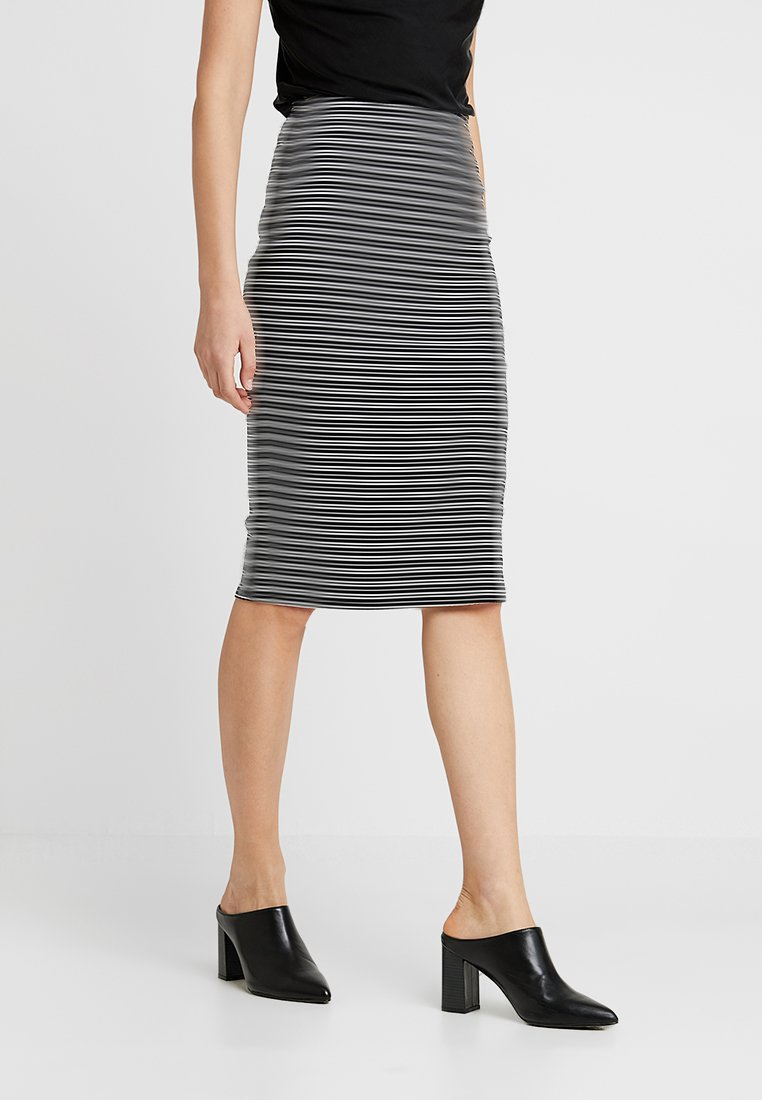 Anna Field - Pencil skirt - white/black