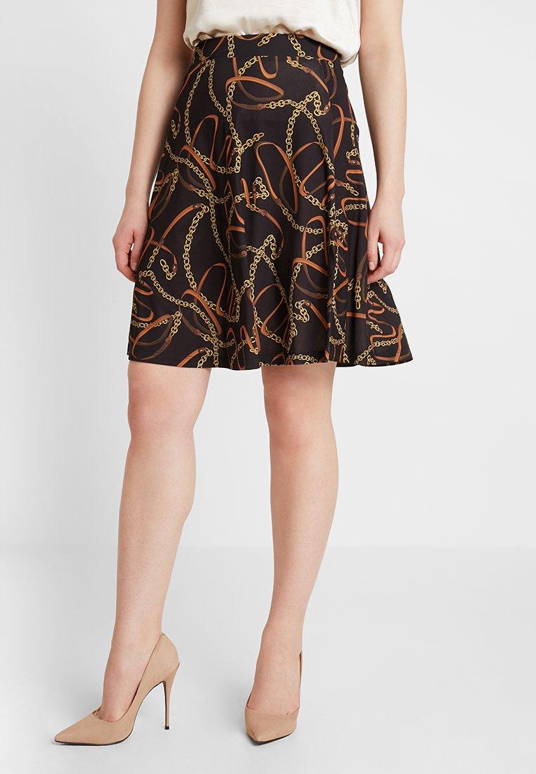 Anna Field - Áčková sukně - black/brown