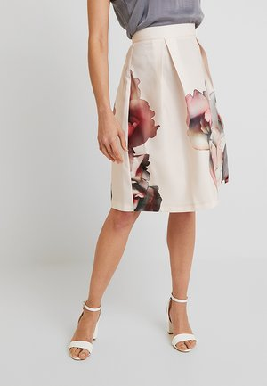 A-line skirt - beige/ rose