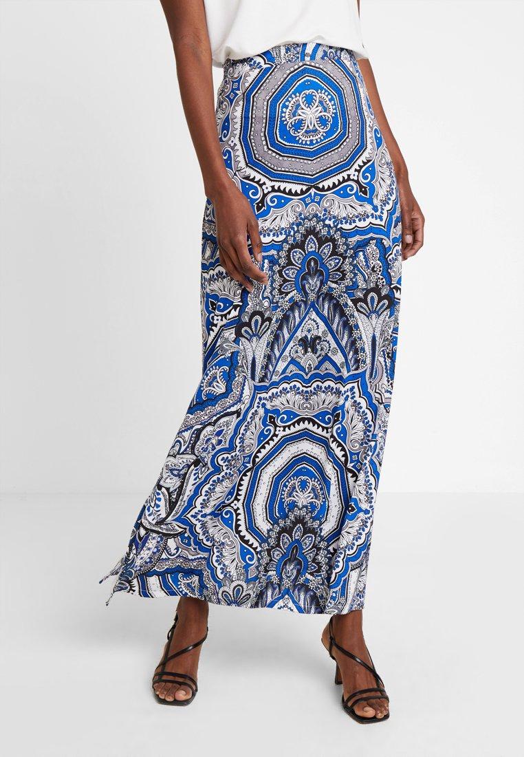 Anna Field - Maxi skirt - blue/white