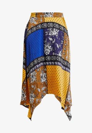 Áčková sukně - yellow/dark blue