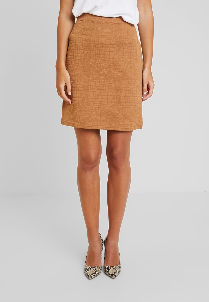 Anna Field - Mini skirt - tobacco brown light