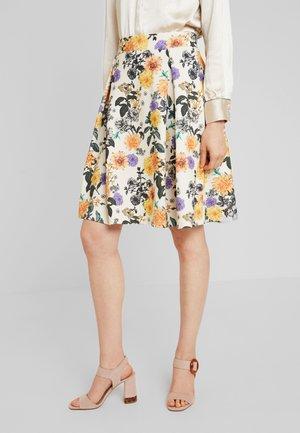Mini skirt - beige/rose