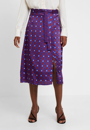 Spódnica trapezowa - red/dark blue