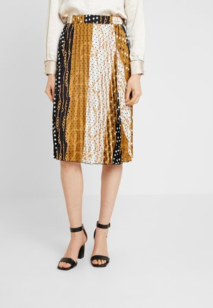 A-line skirt - gold/black