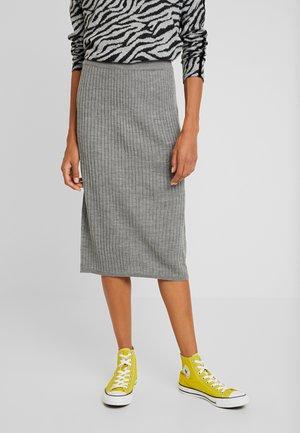 Pencil skirt - mid grey melange