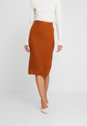 Pencil skirt - caramel cafe