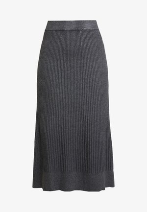 Jupe trapèze - mid grey melange