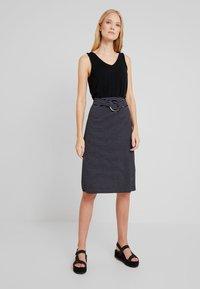 Anna Field - Blyantnederdel / pencil skirts - dark blue/white - 1