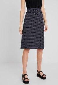 Anna Field - Blyantnederdel / pencil skirts - dark blue/white - 0