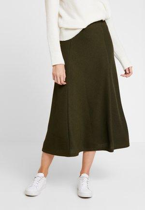 Pouzdrová sukně - olive night