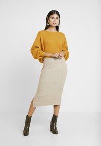 Anna Field - Pouzdrová sukně - beige - 1