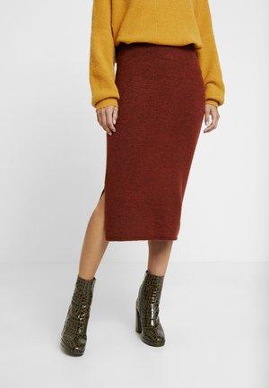 Pencil skirt - rusty