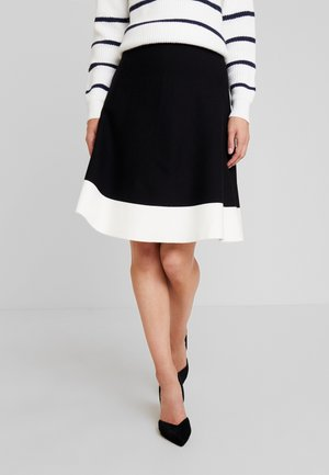 Jupe trapèze - white/black