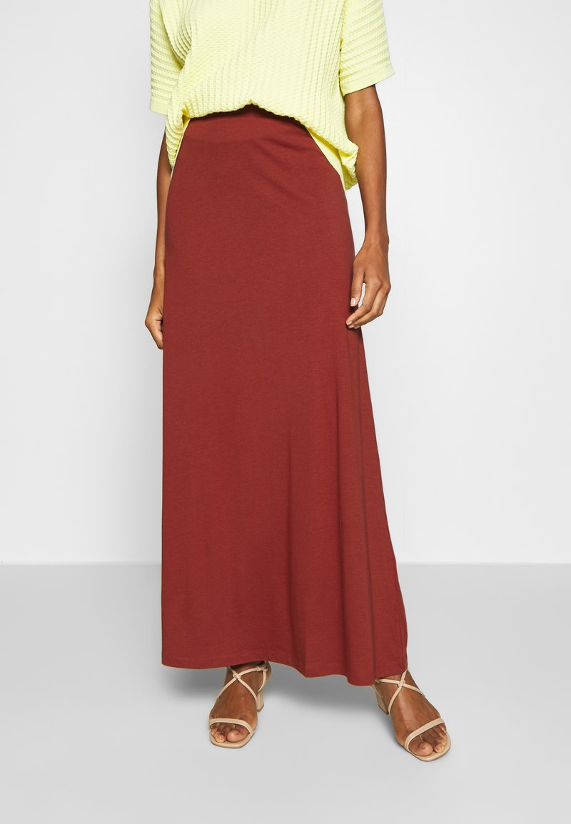 Anna Field - BASIC - Maxi skirt - Maxirock - burnt henna