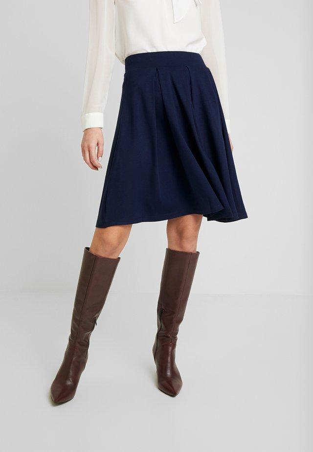 BASIC - Áčková sukně - maritime blue