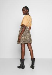 Anna Field - Mini skirt - black/beige - 2