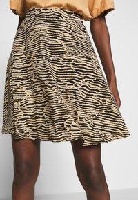 Anna Field - Mini skirt - black/beige - 4