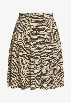 Mini skirt - black/beige
