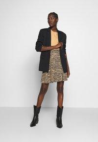 Anna Field - Mini skirt - black/beige - 1