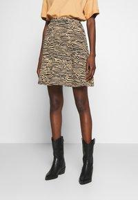 Anna Field - Mini skirt - black/beige - 0