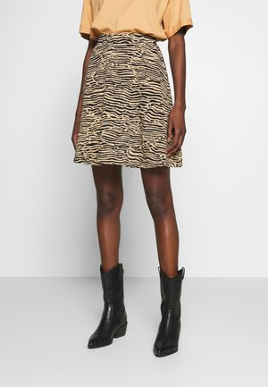 Mini skirt - black/beige