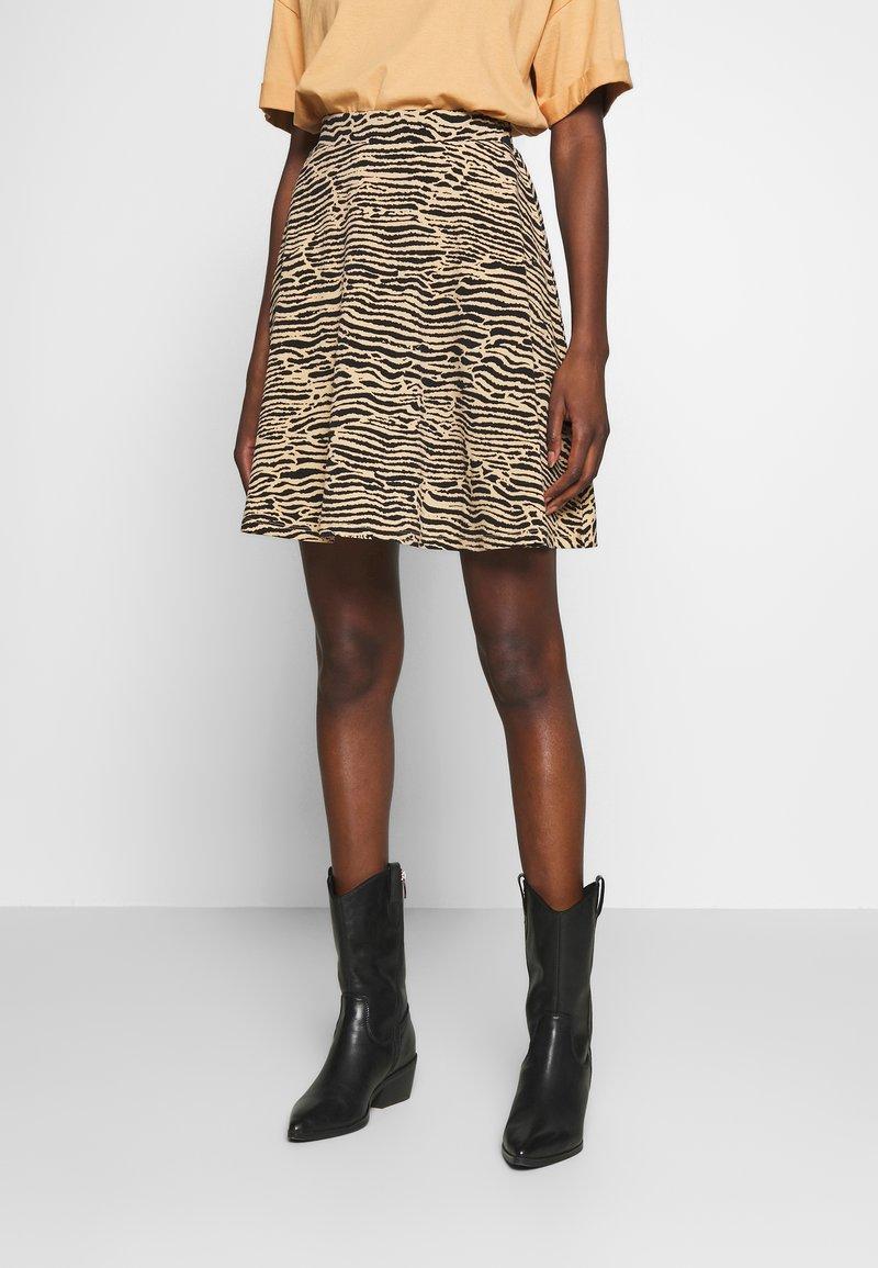 Anna Field - Mini skirt - black/beige