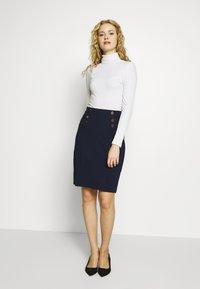Anna Field - Pouzdrová sukně - maritime blue - 1