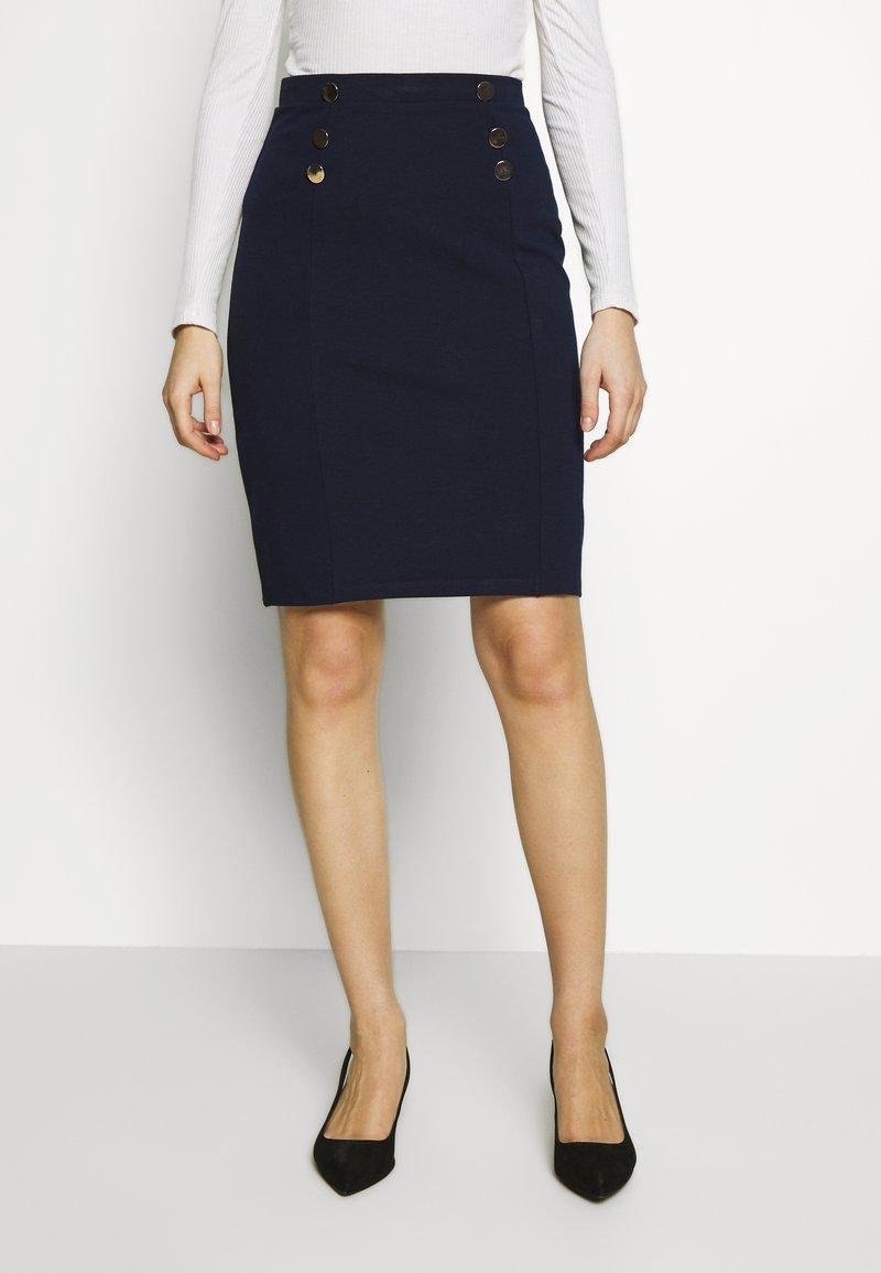 Anna Field - Pouzdrová sukně - maritime blue