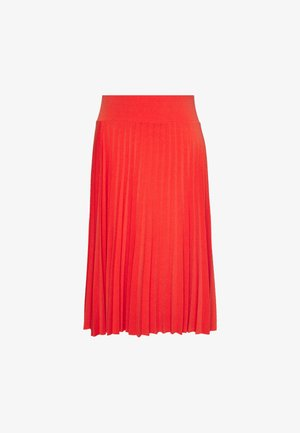 BASIC - Plissé A-line skirt - A-lijn rok - orange