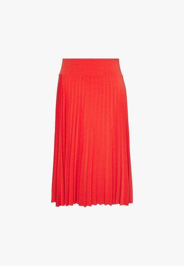BASIC - Plissé A-line skirt - Áčková sukně - orange