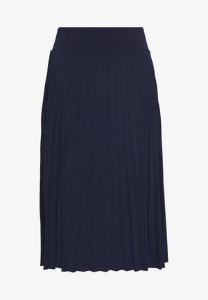 BASIC - Plissé A-line skirt - A-lijn rok - maritime blue