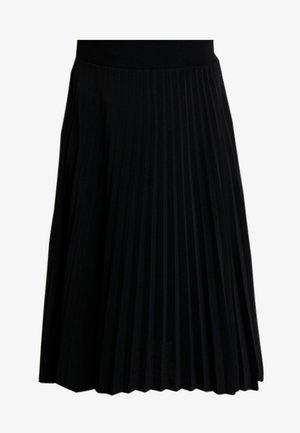 BASIC - Plissé A-line skirt - A-line skjørt - black