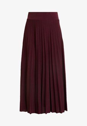 BASIC - Plissé A-line skirt - Jupe trapèze - winetasting