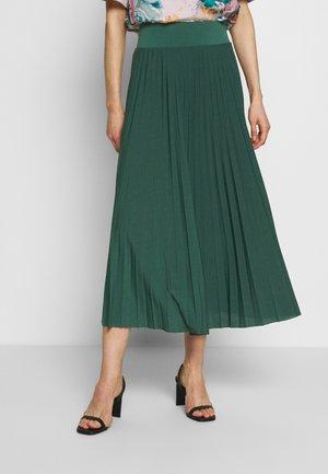 BASIC - Plissé A-line skirt - A-Linien-Rock - teal