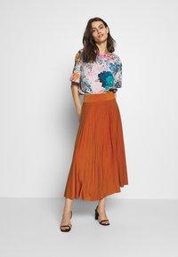 Anna Field - BASIC - Plissé A-line skirt - A-Linien-Rock - potter's clay - 1
