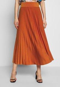Anna Field - BASIC - Plissé A-line skirt - A-Linien-Rock - potter's clay - 0