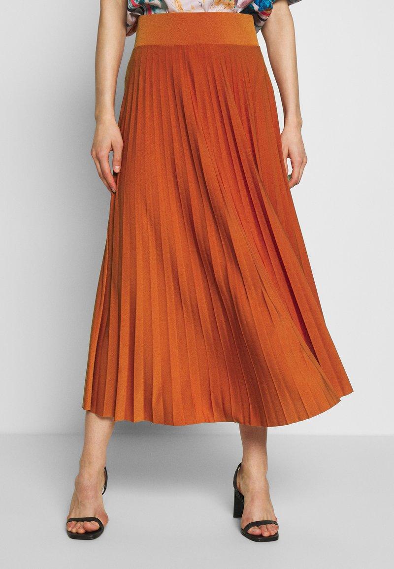 Anna Field - BASIC - Plissé A-line skirt - A-Linien-Rock - potter's clay
